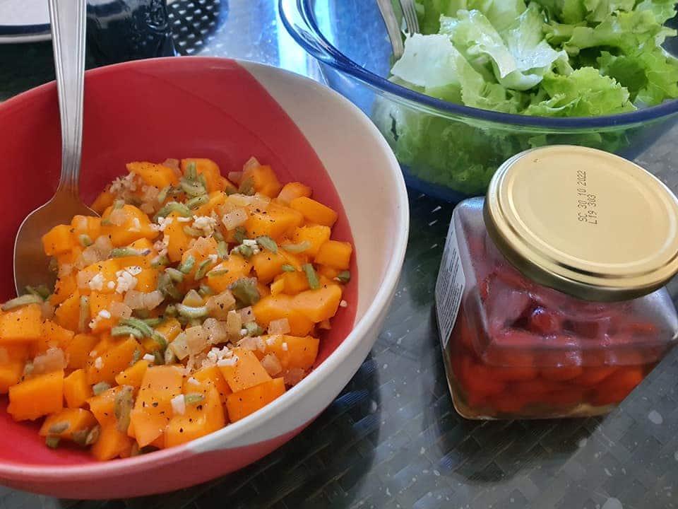 Salade de papaye salée