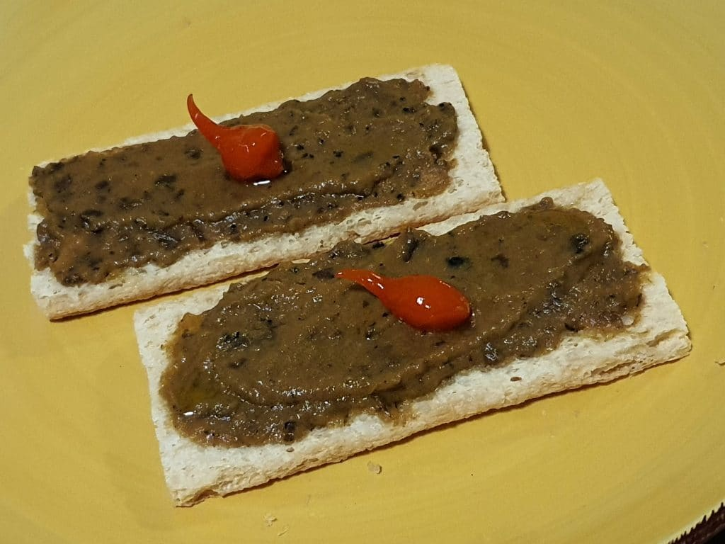 Toasts d'aubergines à la truffe