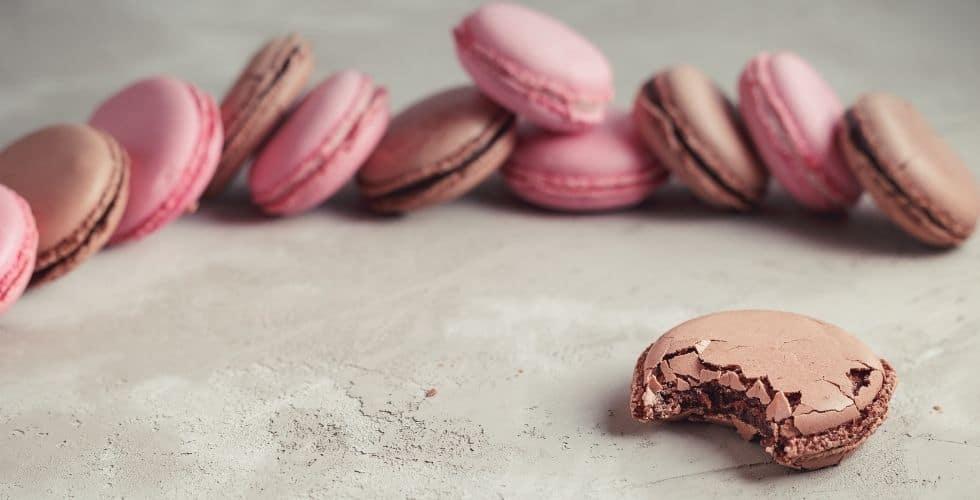 macarons chocolat framboise